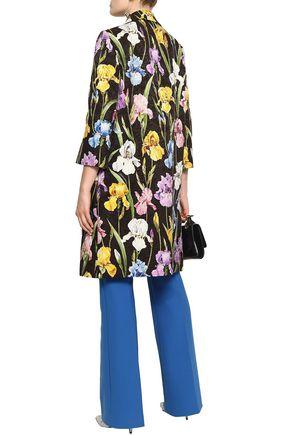 DOLCE & GABBANA Floral-print cotton-blend jacquard coat