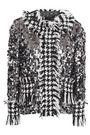 DOLCE & GABBANA Sequined fringed houndstooth tweed jacket