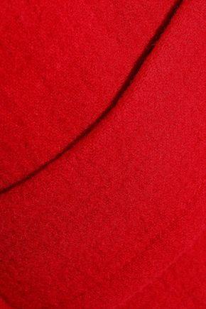 HELMUT LANG Belted brushed wool coat