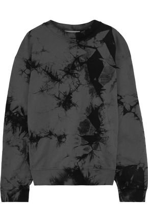 HELMUT LANG Oversized tie-dyed French cotton-terry sweatshirt