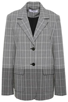 DEREK LAM 10 CROSBY Checked dégradé jacquard blazer