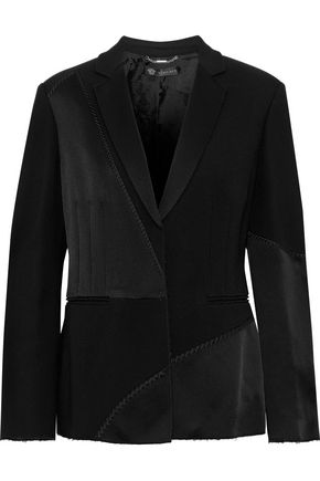 VERSACE Embroidered crepe blazer