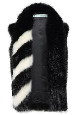 OFF-WHITE™ Two-tone faux fur vest