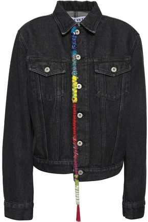 LOEWE Embellished embroidered denim jacket