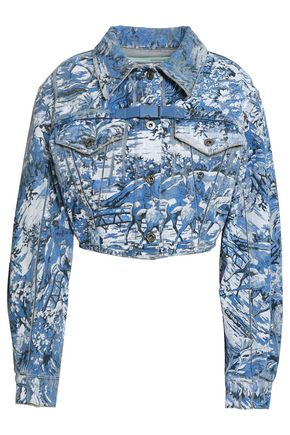 OFF-WHITE™ Cropped printed denim jacket
