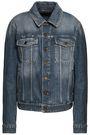 SAINT LAURENT Printed denim jacket