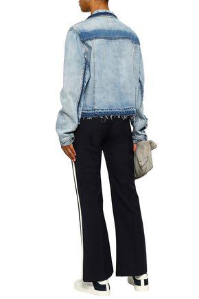 DKNY Frayed faded denim jacket