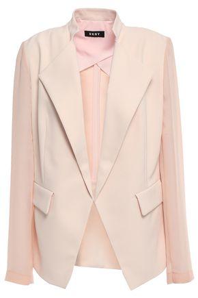 DKNY Georgette-paneled crepe blazer