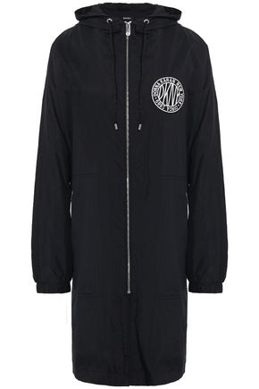 DKNY Appliqué shell hooded raincoat