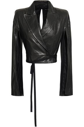 ANN DEMEULEMEESTER Cutout leather jacket