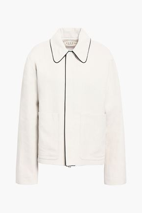 MARNI Wool and linen-blend jacket