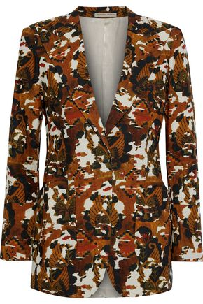 BOTTEGA VENETA Printed cotton-twill blazer
