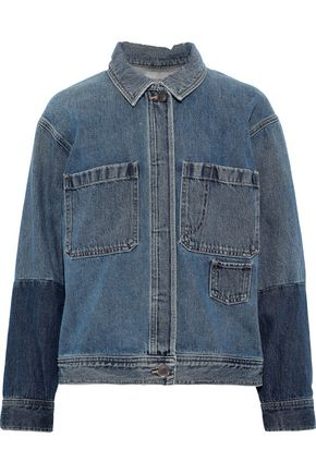 VINCE. Two-tone denim jacket