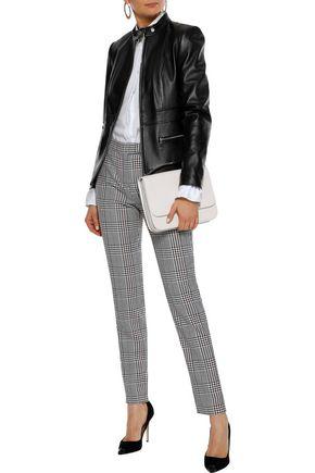 Elie Tahari Woman Deepa Leather Jacket Black