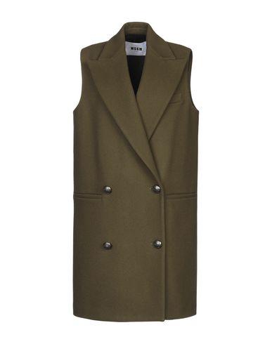 Купить Женское пальто или плащ MSGM цвет зеленый-милитари