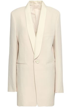 JOSEPH Canvas-trimmed wool blazer