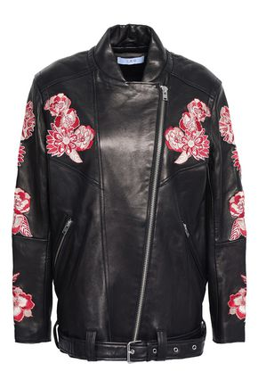 IRO Embroidered leather jacket