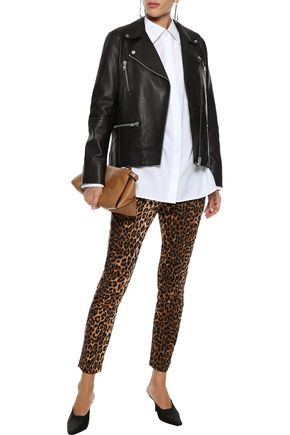 STAND STUDIO Silka leather biker jacket
