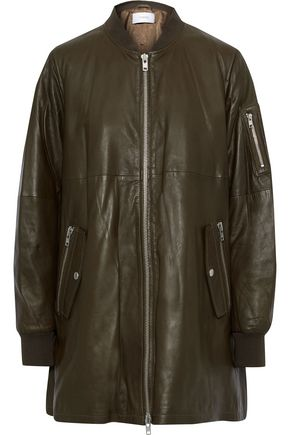 STAND STUDIO Taylor oversized leather bomber jacket