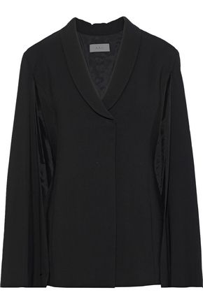 A.L.C. Valetta cape-effect textured-crepe jacket