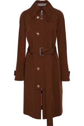 MARNI Wool and cotton-blend twill trench coat