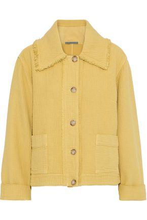 RAQUEL ALLEGRA Frayed cloqué jacket