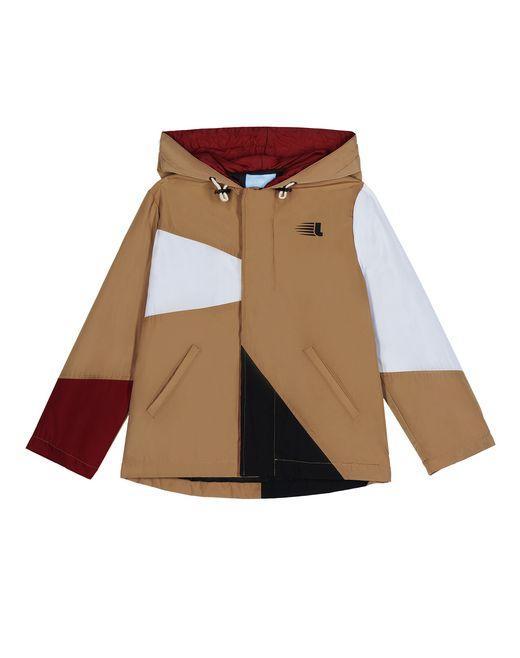 BEIGE COLOUR-BLOCK PARKA   - Lanvin
