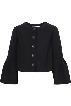 CAROLINA HERRERA Cropped stretch-wool crepe jacket