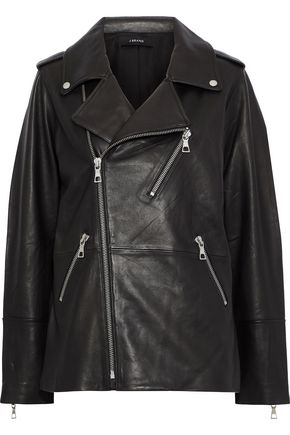 J BRAND Eden oversized leather biker jacket