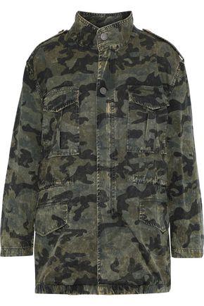 DL1961 Printed distressed cotton-blend denim jacket