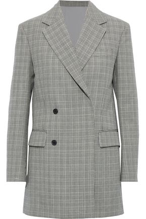 CALVIN KLEIN 205W39NYC Double-breasted checked wool blazer