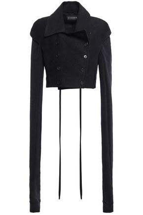 ANN DEMEULEMEESTER Double-breasted cotton-blend and wool-felt blazer
