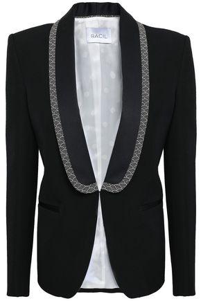 RACIL Satin-trimmed wool blazer
