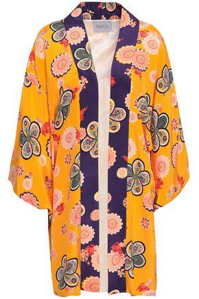 RACIL Floral-print silk crepe de chine robe