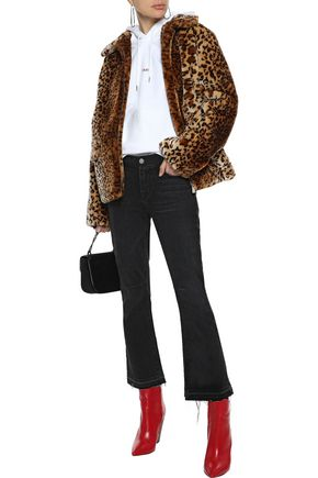 Anine Bing Jackets ANINE BING WOMAN MOLLY LEOPARD-PRINT FAUX FUR JACKET ANIMAL PRINT