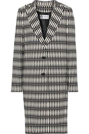 LANVIN Printed crepe coat