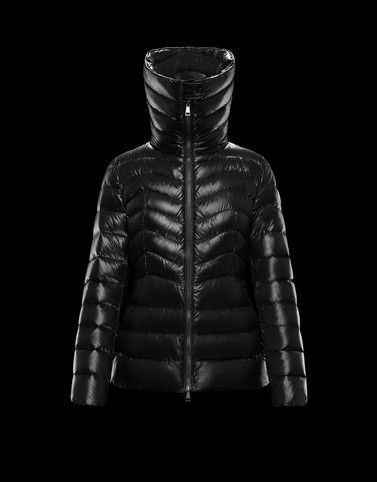 AULINE Black Short Down Jackets