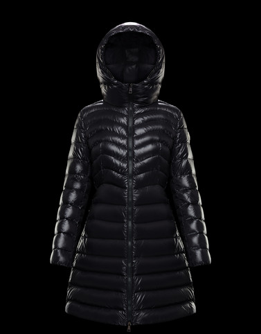 AUTHIE Black Long Down Jackets Woman