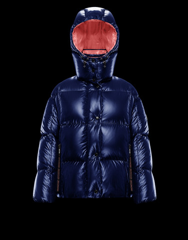 PARANA Blue Short Down Jackets Woman