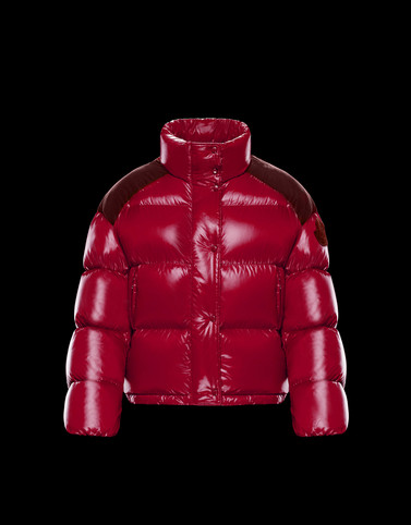 CHOUETTE Red Short Down Jackets Woman