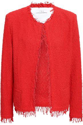 IRO Shavani frayed cotton-blend tweed jacket