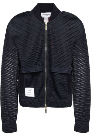 THOM BROWNE Layered mesh bomber jacket
