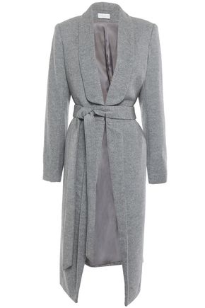REBECCA VALLANCE Mélange wool-blend felt coat