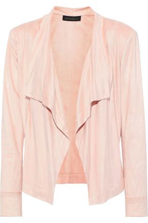DONNA KARAN Draped faux suede jacket