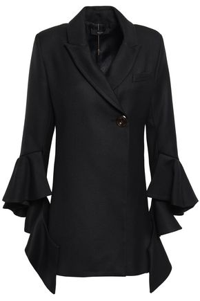 ELLERY Ruffled wool-blend twill blazer
