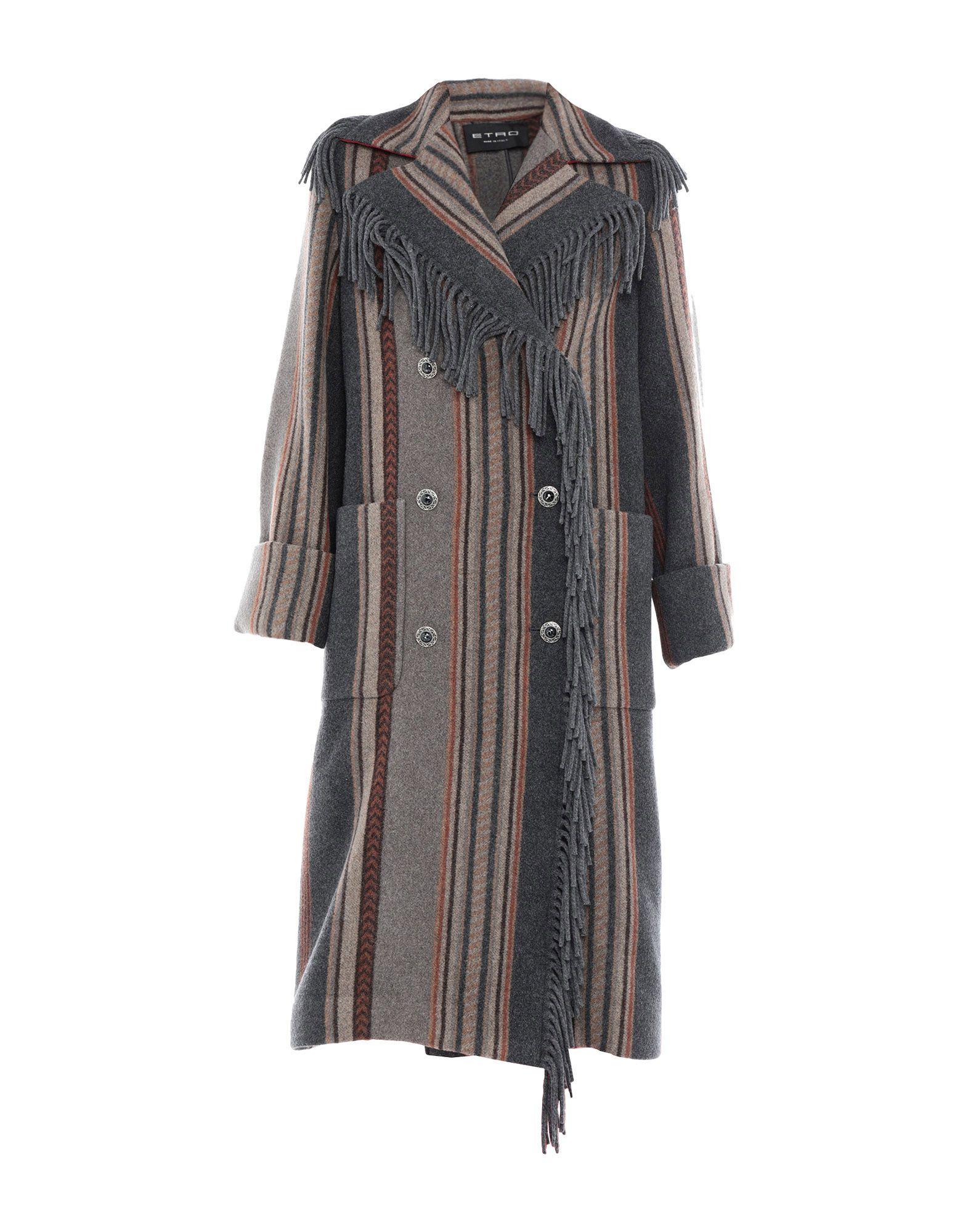 ETRO Пальто etro шерстяное пальто