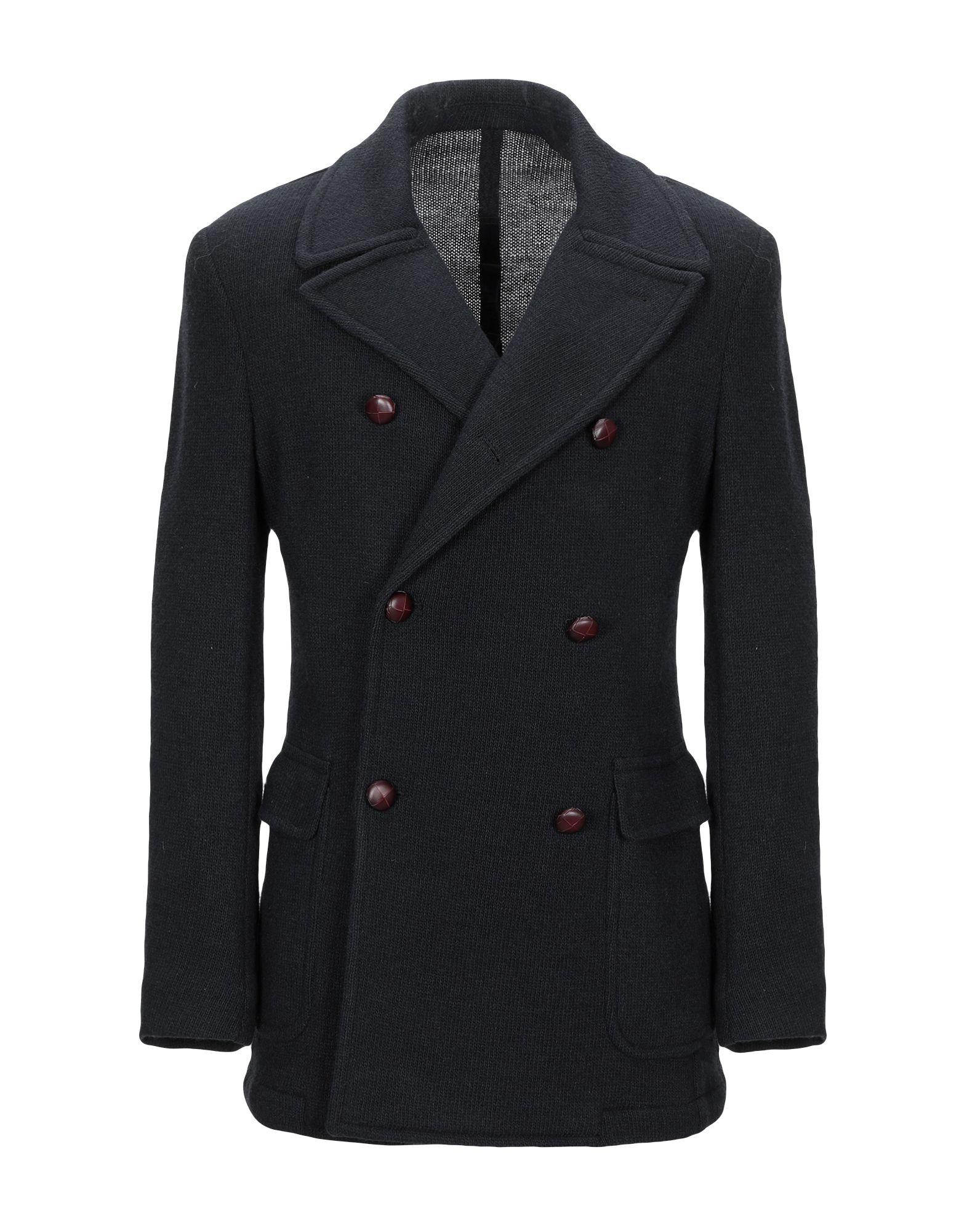 《送料無料》JOHN SHEEP メンズ コート ブラック S アクリル 60% / レーヨン 40%