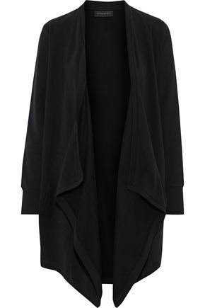 DONNA KARAN Draped stretch-cotton cardigan