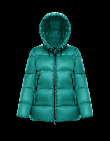 SERITTE Green Short Down Jackets Woman