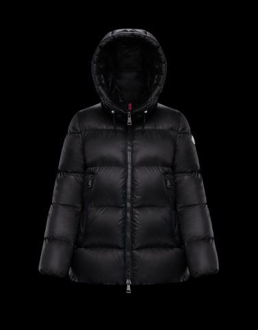 SERITTE Black Short Down Jackets